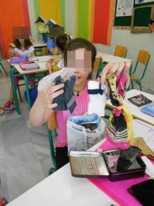 "9 All about me: this is another favourite project of mine! We spend at least two lessons on it.First , I start by asking them to play the guessing game ""Me in a bag"": I take out of a bag several objects which have to do with my life and interests and ask the class to guess how they are related to me! I ask them to do the same during our next lesson for themselves and challenge their classmates to guess about them! Finally, they are assigned to write everything they consider important about themselves on this paper figure which is displayed on the classroom walls!"