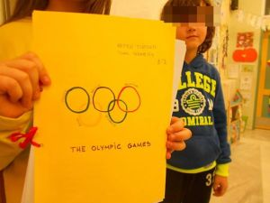A 4th graders project: The Olympic Games in ancient Greece- The Olympic Games today! Teams were asked to decide about which of the two options, they would like to present! They were proud to tell our friends abroad that, Greece is the birthplace of the Olympic Games!