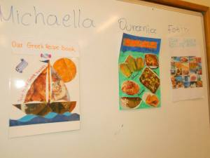 This is a project we did together with our partners in France: a recipe book! Sharing local recipes was fun!