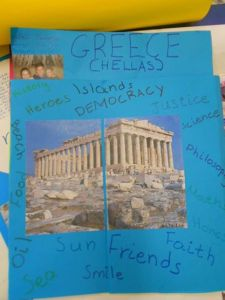 Detail of one group project sent to our friends abroad: My country!