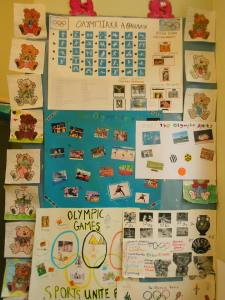 "It is very important, to have all those projects displayed in the classroom , for all the students to be able to see, before they are sent to our friends abroad! I have a different "" projects corner"" for each class, inside our classroom! It's so inspiring for students, to see other teams projects! It also makes the classroom more colorful and beautiful! The kids, feel proud to show them to friends or parents on the school ""Open to parents Day"", too...."