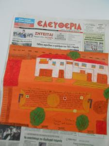 "When there is a will, there is a way! This is a project called ""Our english newspaper"". A thematic project with our partners in Taiwan. We have no computers in school therefore, I had to come up with this idea in order to present my students work looking like a newpaper!"