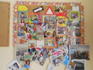 It's just amazing for my students, to see their project work in another classroom, so far away from home! Due to the fact that, we have no computers at school, I always print lots of pictures and display them on our notice boards, for all the students to be able to see...