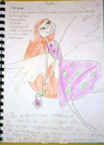 LOVE:This is ME ! I CAN FLY high , because I LOVE my mother so much and my LOVE , CAN help her FLY high too!! Jr class version: This IS me! I CAN fly high, too! I HAVE a loving family! I LOVE my mother. I AM blessed!