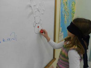 Rudolf, the red nose reindeer!!