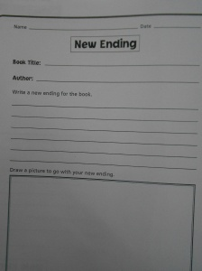 I sometimes, hand them a different handout ,where they are asked to write a different ending to the book story and maybe draw a picture which has to do with it!