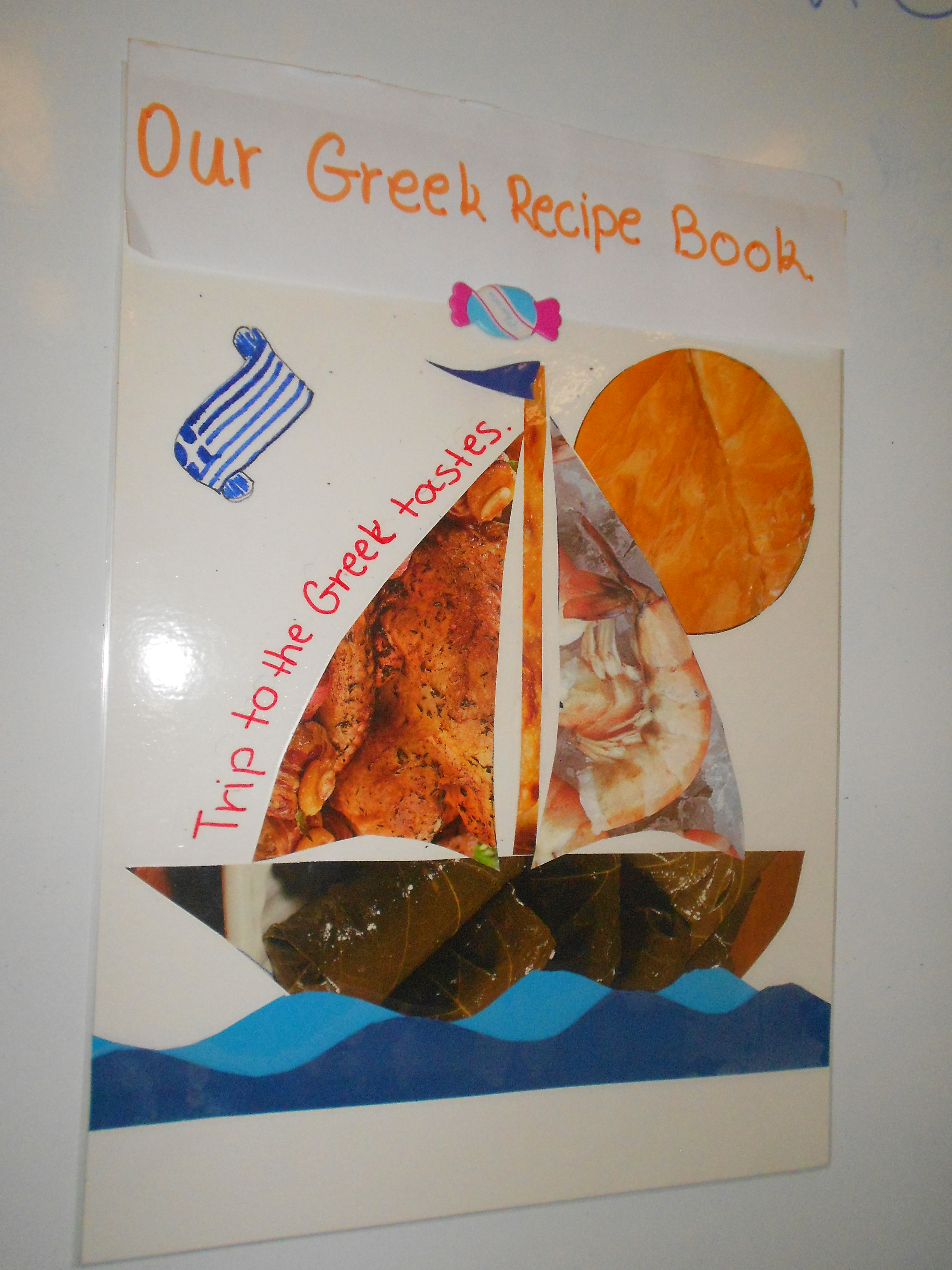 Recipe book elt inspired our greek recipe book cover page forumfinder Choice Image