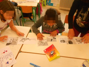 Putting the pictures in the right order to create their story book