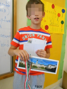 Alexander's mother is from Hungary. he decided to bring postcards from that country !