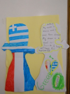 Athina's message to our pen pals, inside...
