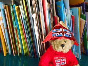 "Our small "" library"", has about 400 english books and I am really very proud of that! Children are encouraged to borrow books regularly, on a voluntary basis.."