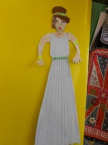 Ifegenia, our flat puppet-ambassador in Poland.