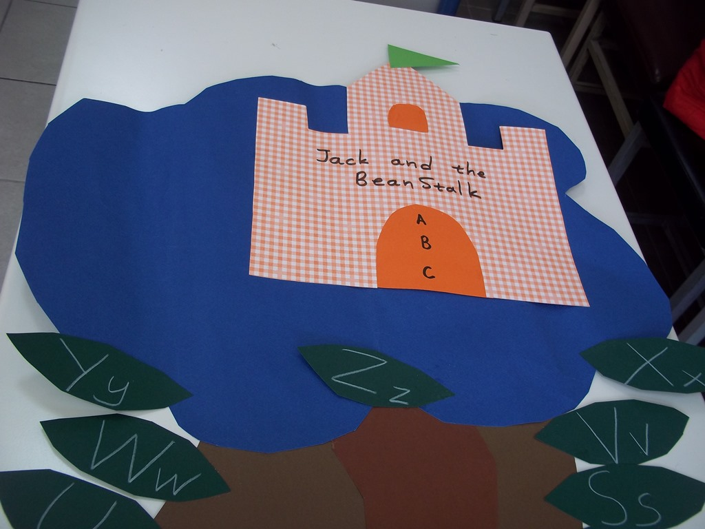 ABC with bottle caps games and a… Beanstalk ! | ELT inspired